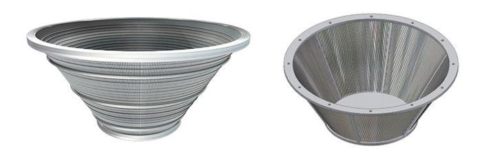 paniers centrifuges en acier inoxydable