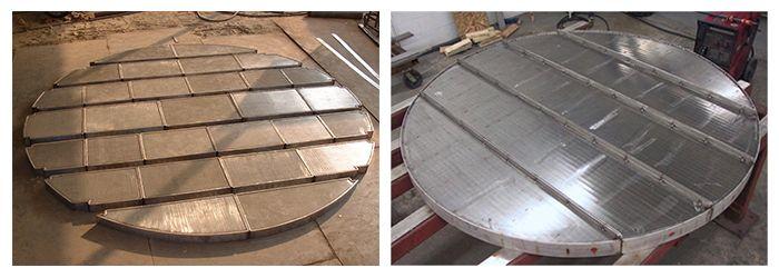 Grille soutien filtre, grilles en fils métalliques de section triangulaires, filtres de sable, panneaux de grillage soudés